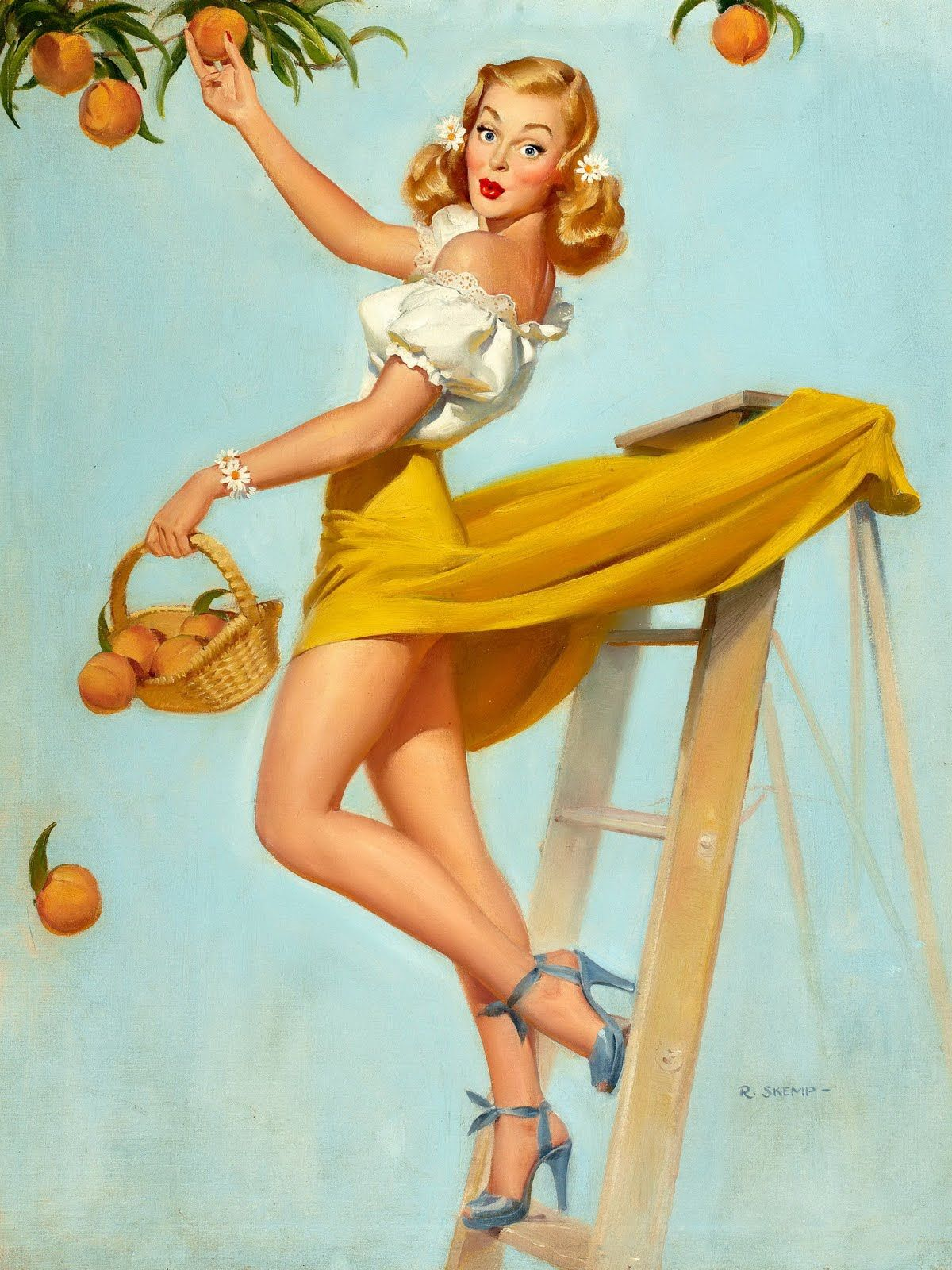 Classic Pin Up Girls By Robert Oliver Skemp Vintage Pin Ups