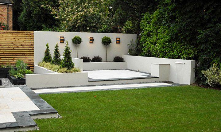 Contemporary Garden White Walls Google Search Modern