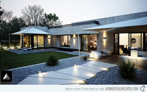 Forget The Traditional Look Modern Front Yard Landscaping Ideas Modern Front Yard Front Yard Design Modern Landscaping