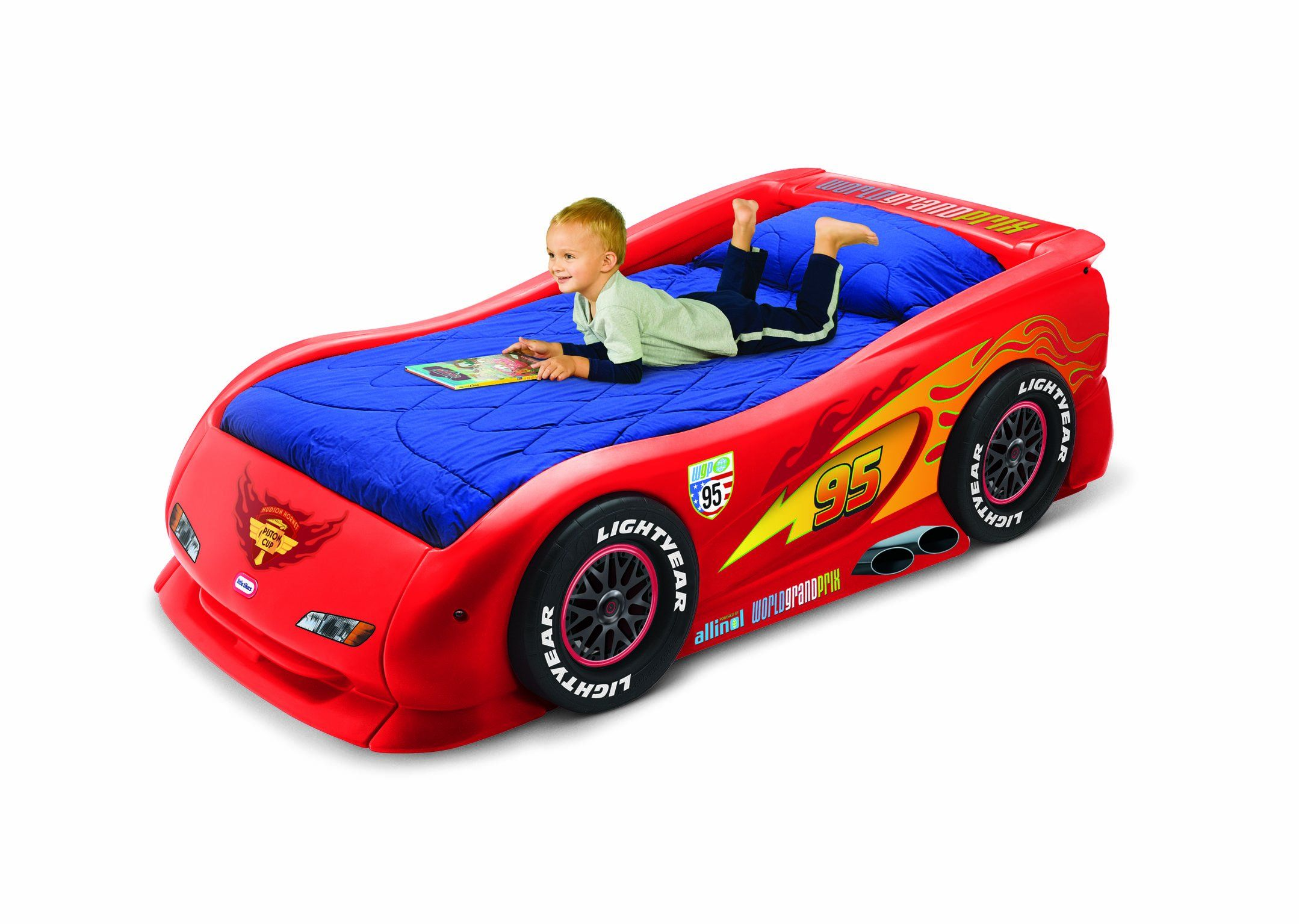 Cars 2 Lightning McQueen Sports Car Twin Bed Toys