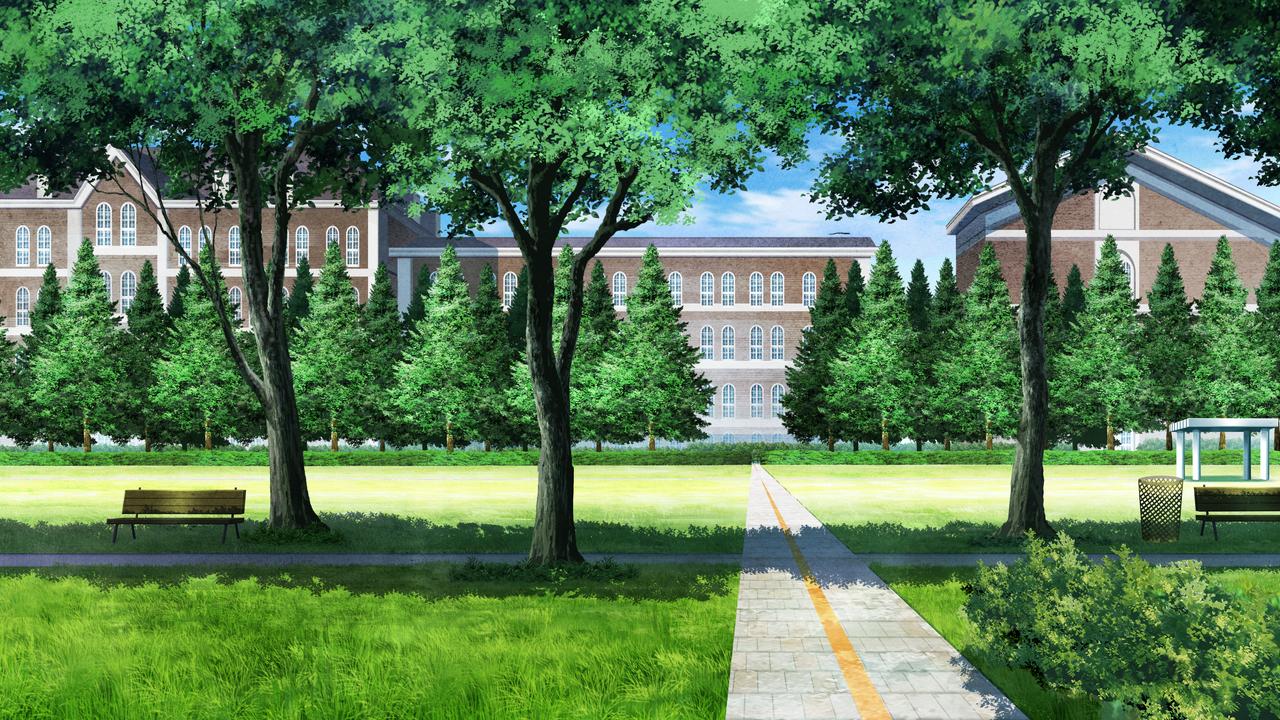 Parque Cenario Anime Fotos Animes Fundo De Animacao
