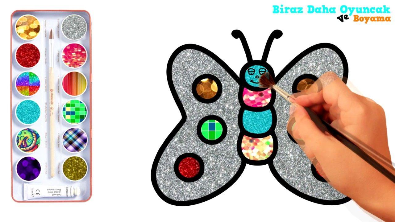 Kelebek Boyama Sayfası çocuklar Için Boyama Videoları Boyama