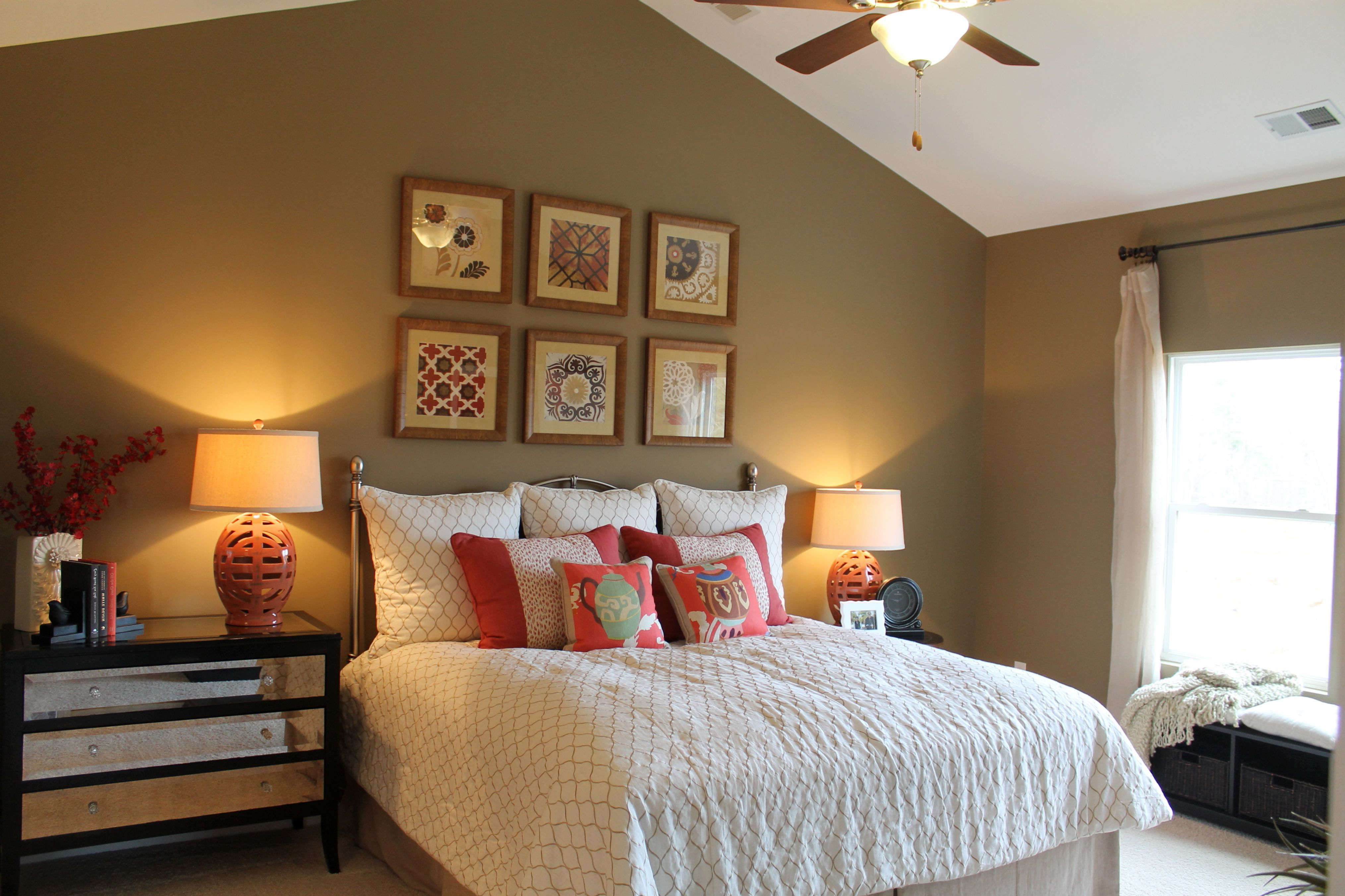 Minimalist Vaulted Ceiling Bedroom Paint Ideas For Contemporary