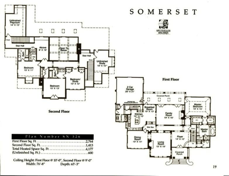 Somerset House Plans Luxury House Plans Floor Plans
