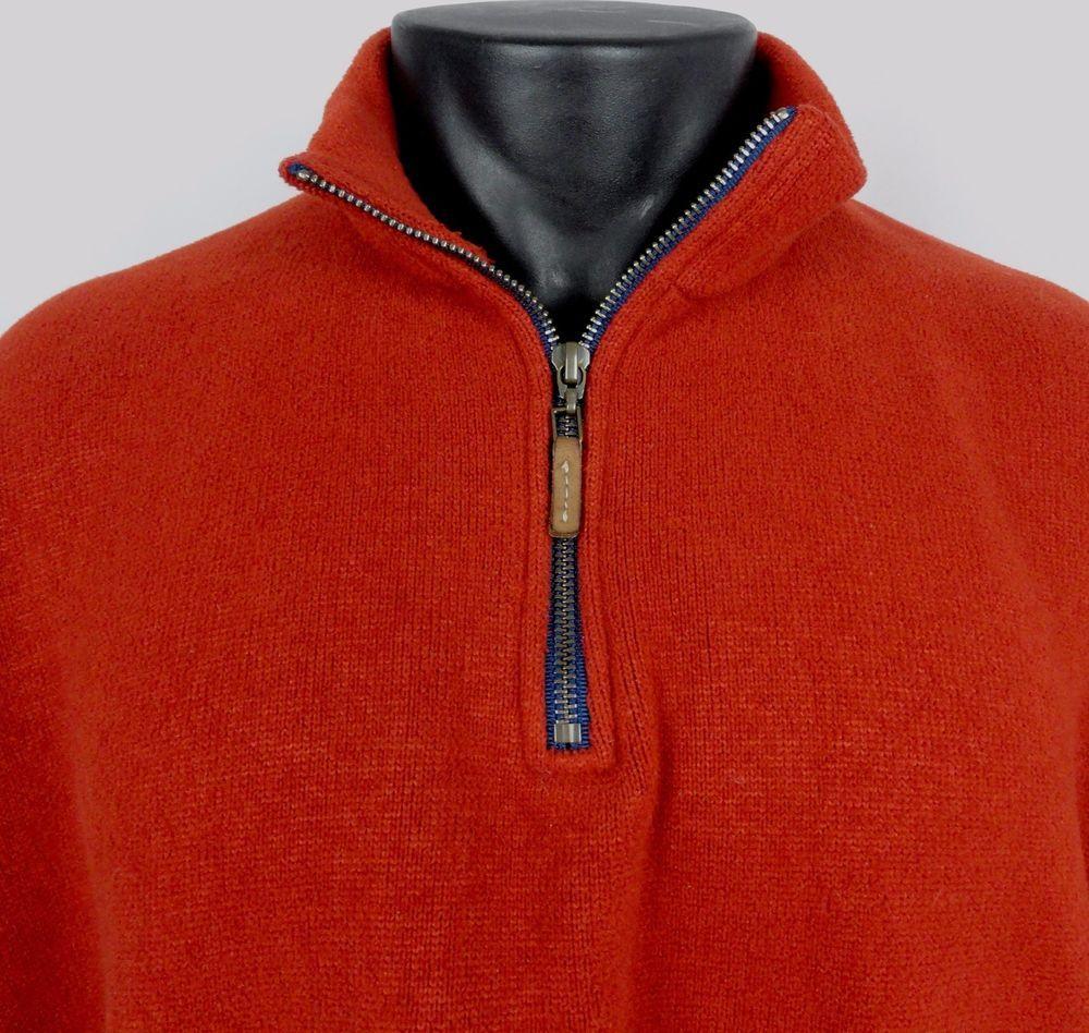 Bills khakis xl quarter zip pullover fleece jacket red usa made long