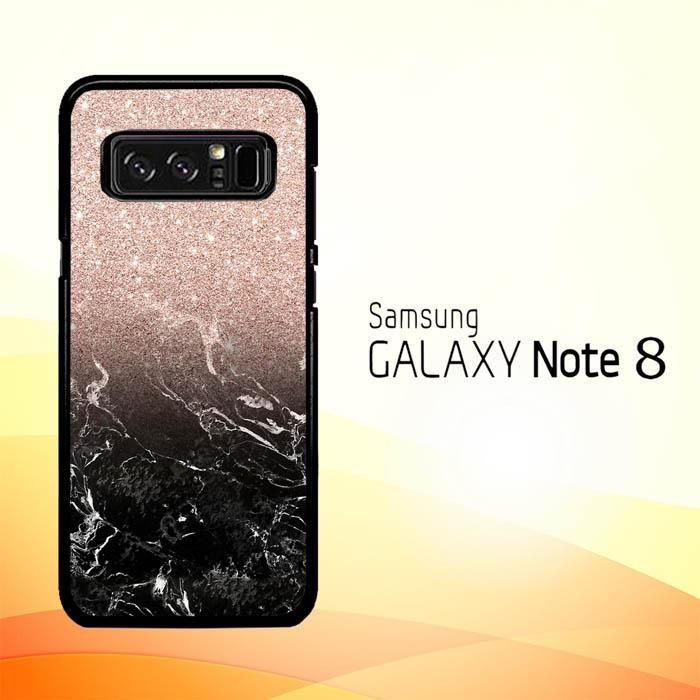 36a84dddb Modern rose gold ombre black marble E1399 Samsung Galaxy Note 8 Case ...