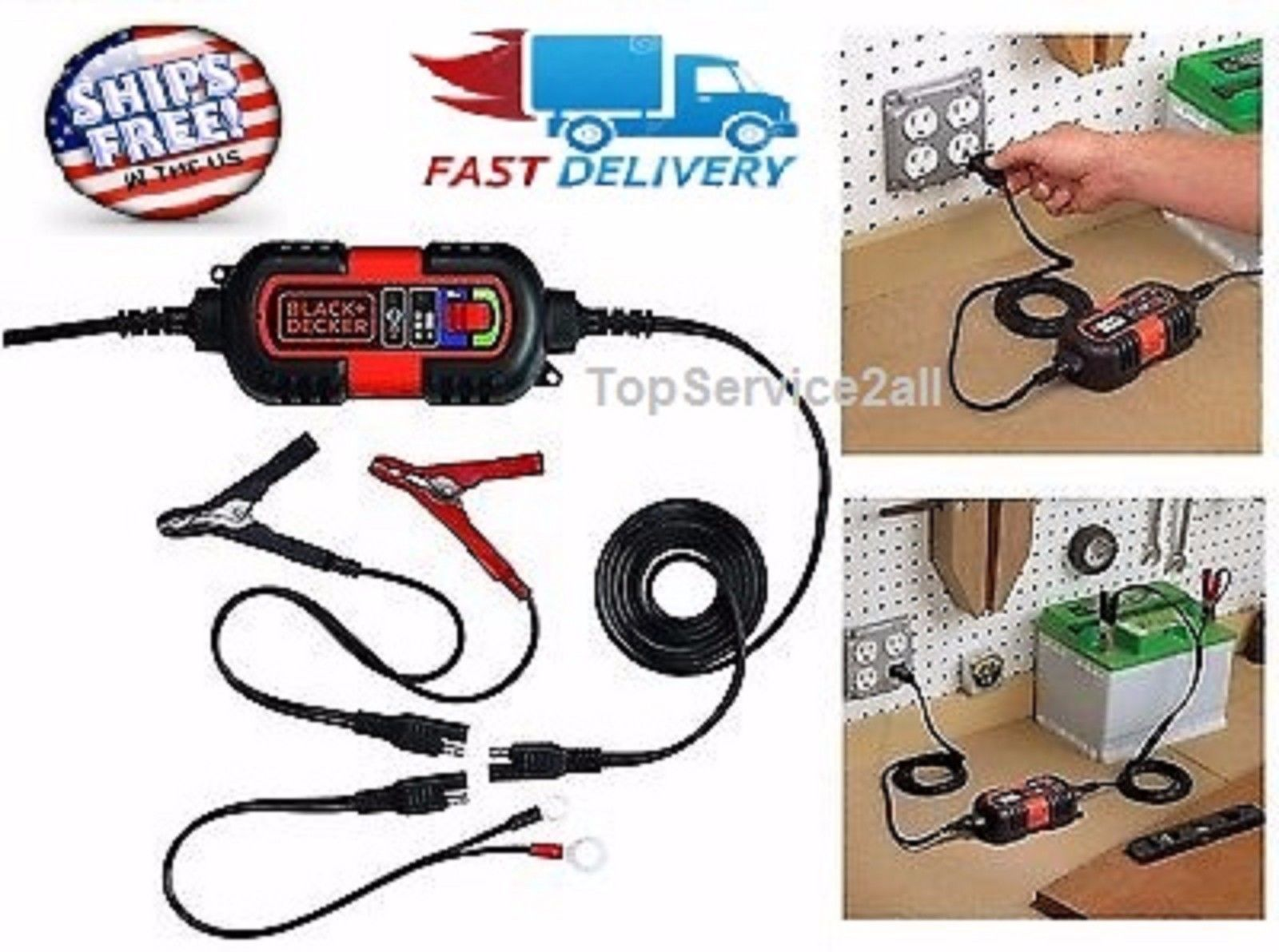 Maintainer Wiring Diagram Atv Motorcycle Battery Charger Float Tender 6v 12v Amp Volt Trickle Rv Car Truck Ebay