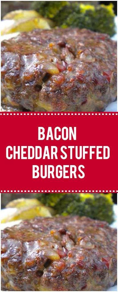Bacon Cheddar Stuffed Burgers  - Bbq -