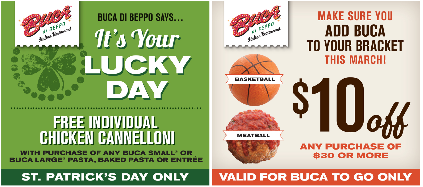 picture about Buca Di Beppo Coupons Printable named BUCA DI BEPPO $$ Coupon for Free of charge Affected person Chook
