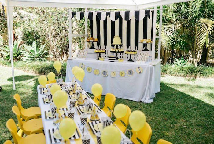 Bumble Bee Themed Birthday Party Via Karas Ideas