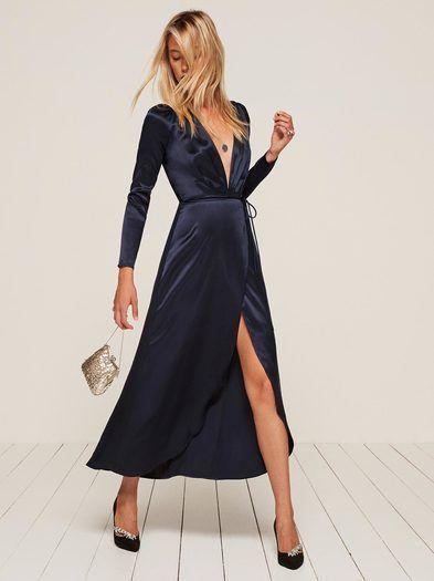 Ankle Length Wrap Dresses