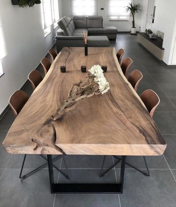 Photo of Table e Edge Dining Table, Live Edge Table, Custom Made Live…