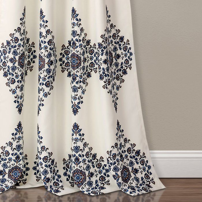 Sussex Geometric Room Darkening Rod Pocket Curtain Panels