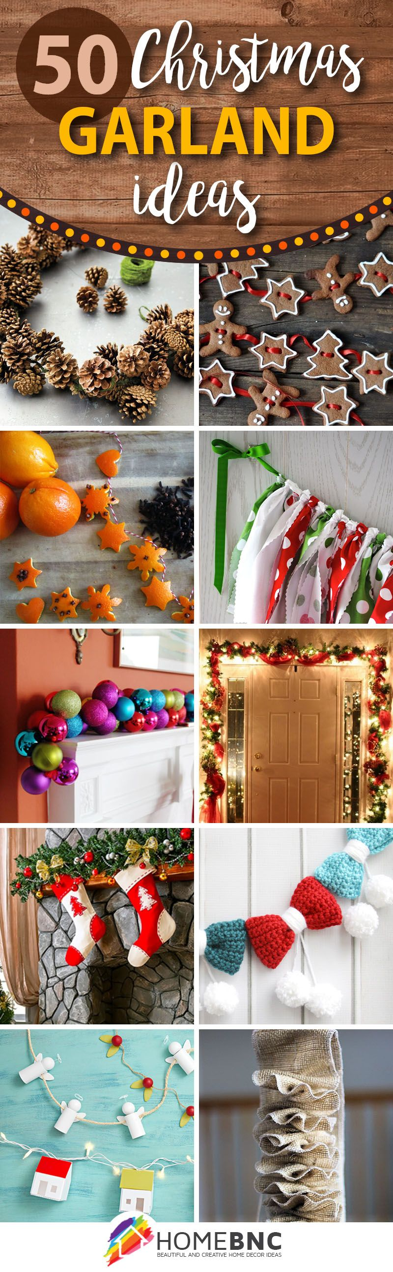 50 Best DIY Christmas Garland Decorating Ideas