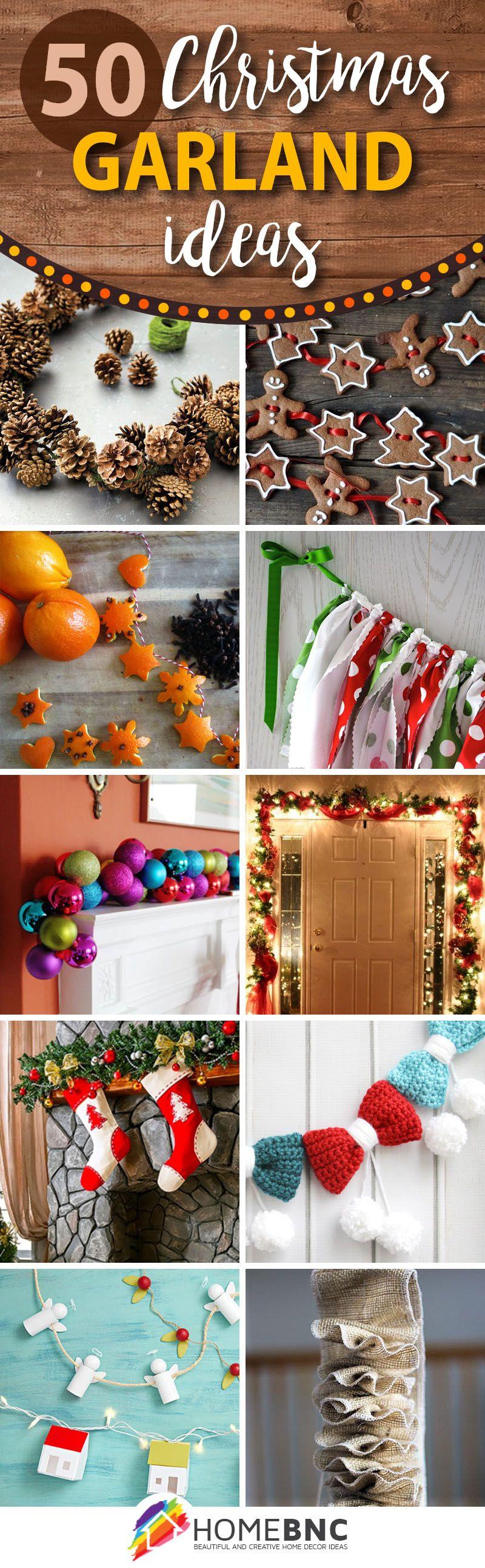 50 best diy christmas garland decorating ideas | diy christmas