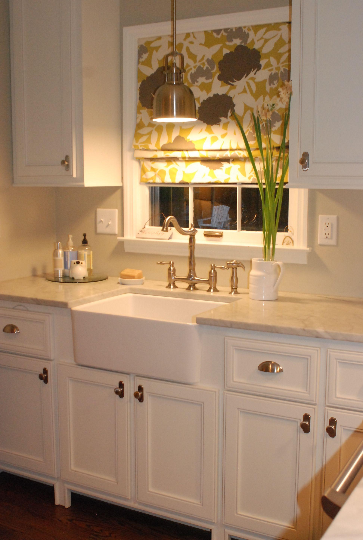 Kitchen window roman blinds  roman shadependant over sink  mis recetas  pinterest  sinks