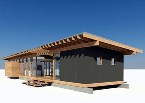 Whidbey island cabin glass wood house design by for Minimalist cabin design