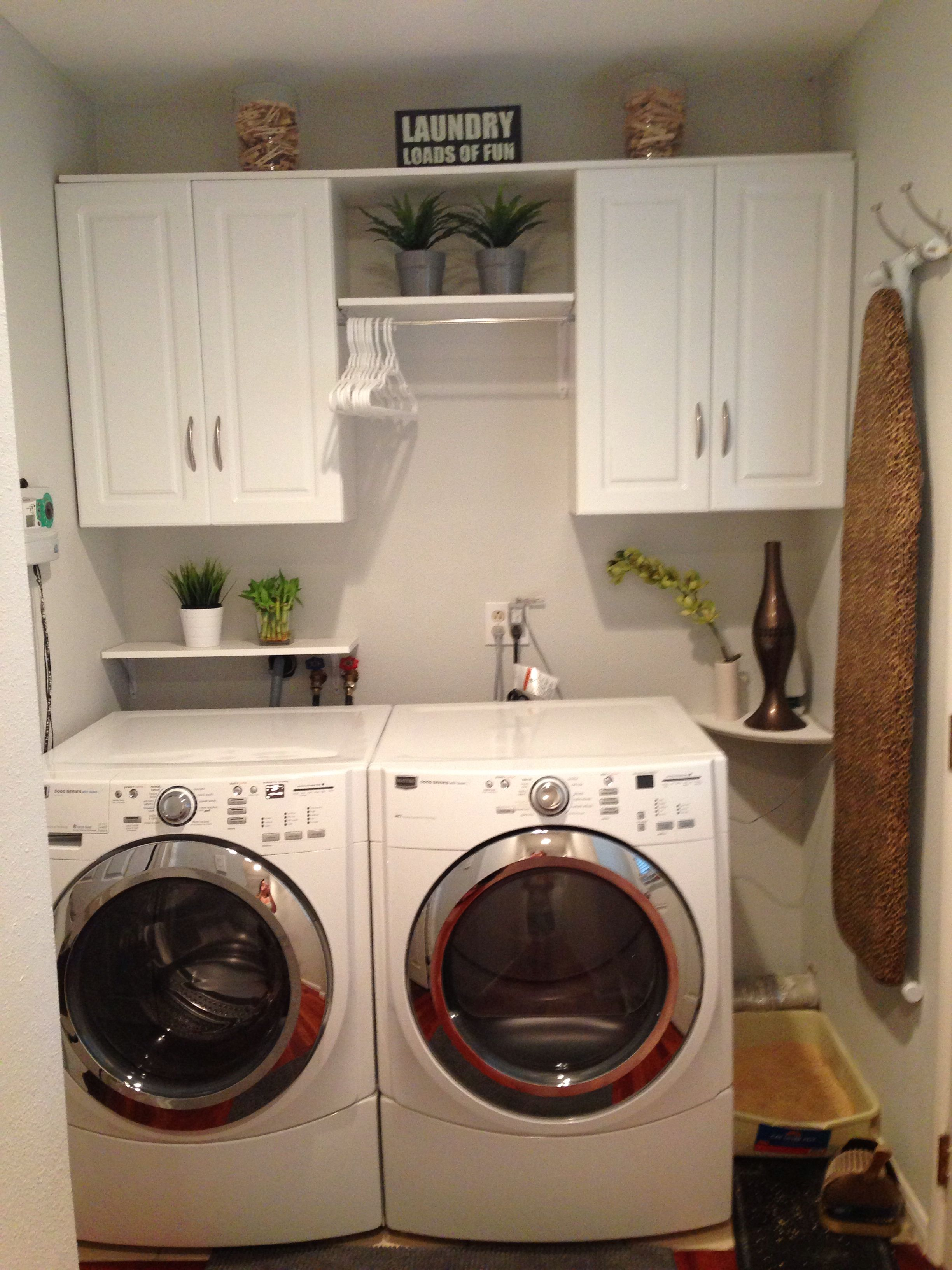 My Updated Laundry Room Ikea Artificial Plants Home Depot