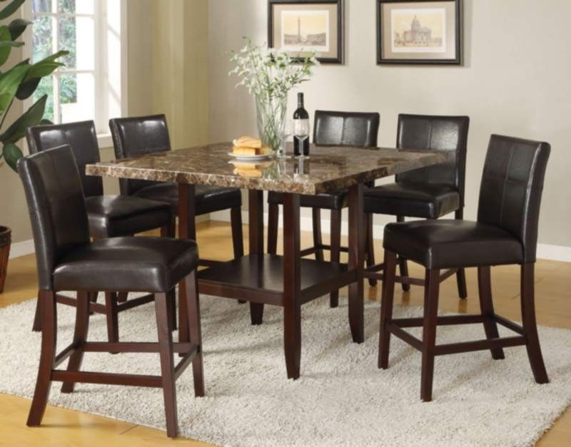 Acme Furniture  Idris 7 Piece Counter Height Dining Table Set Unique Acme Dining Room Set Review