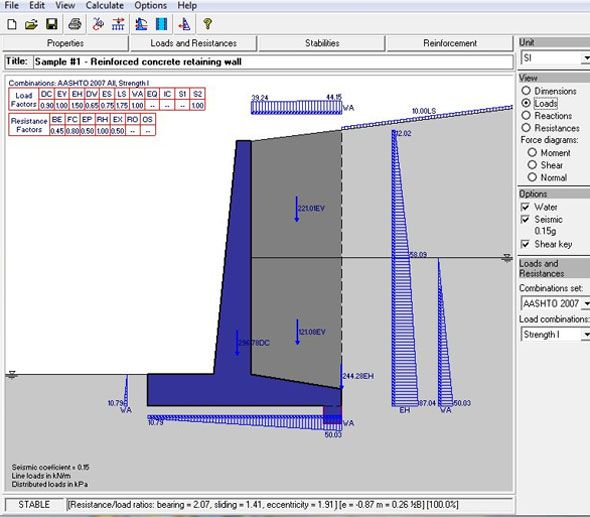 Retainwall Version 2 60 An Exclusive Software For Designing Any Retaining Wall Retaining Wall Design Retaining Wall Construction Retaining Wall