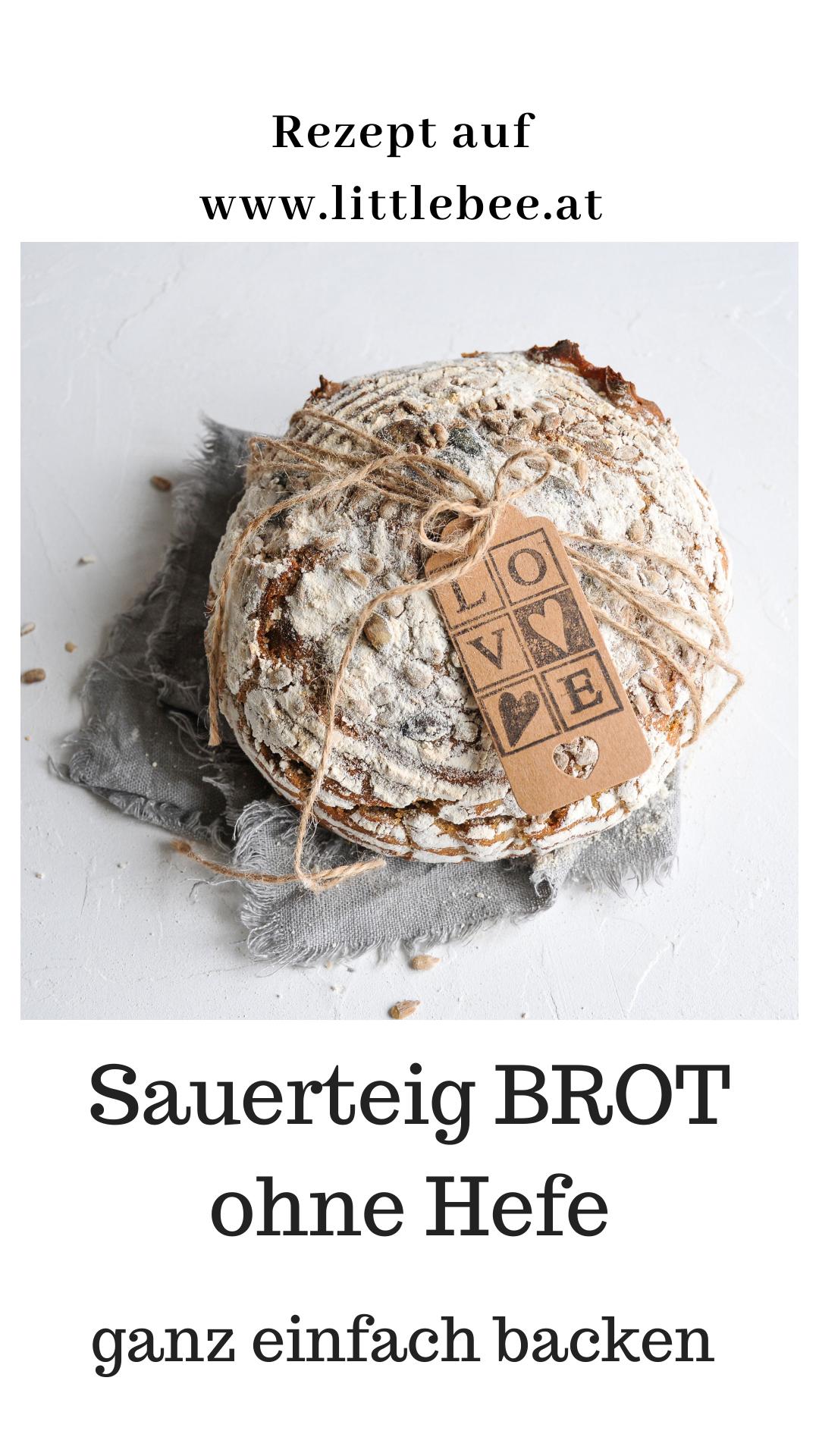 backen mit Sauerteig ohne Hefe | Dinkel Roggen Mischbrot - LITTLEBEE - a food and family lifestyle blog