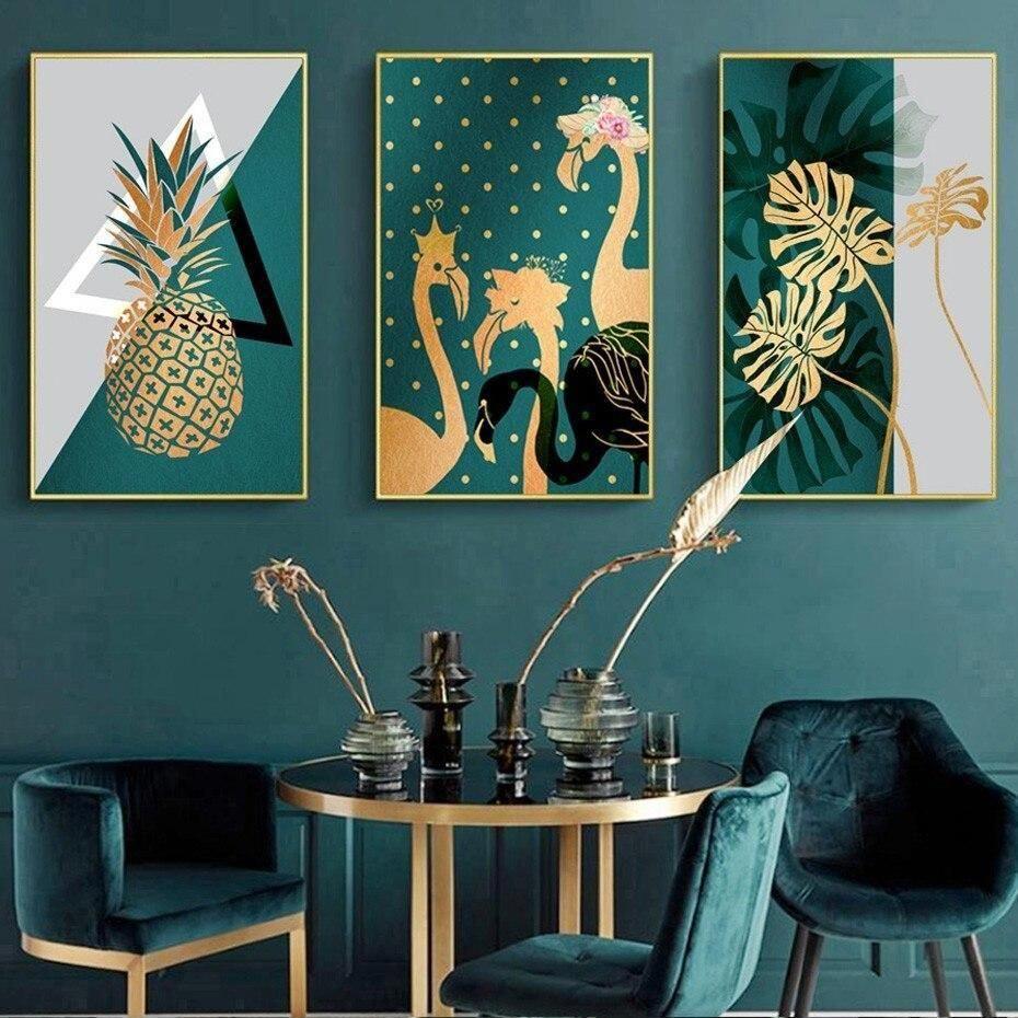 Retro Pineapple Large Wall Art Hanging Artwork Canvas Oil Painting Decor