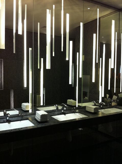 3 Sophisticated Atlanta Bathroom Renovations: Bathroom In The Lobby Of The W Hotel In Atlanta