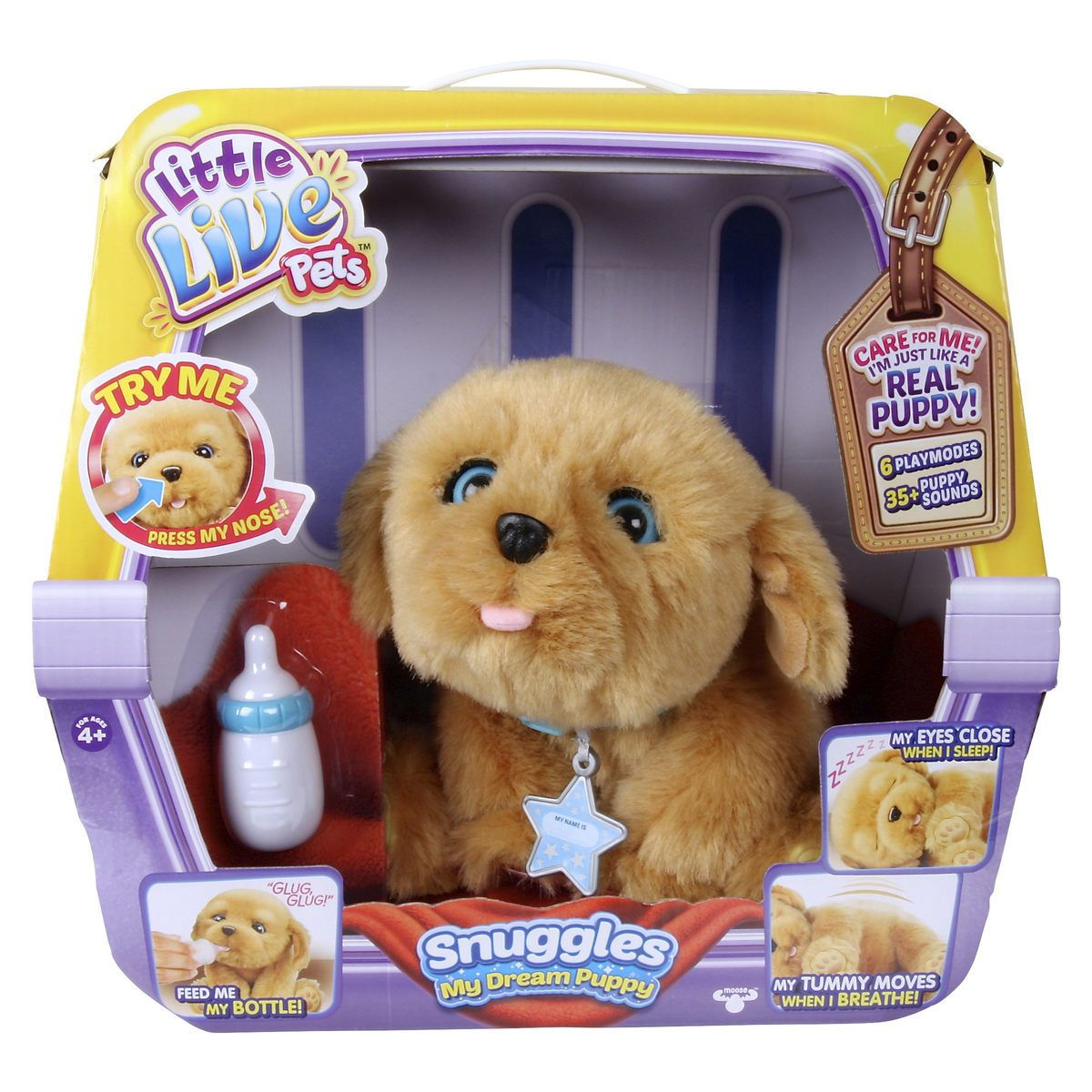 Pin By Jess On Christmas Gift Ideas For The Family Little Live Pets Puppy Soft Toy Puppy Snuggles
