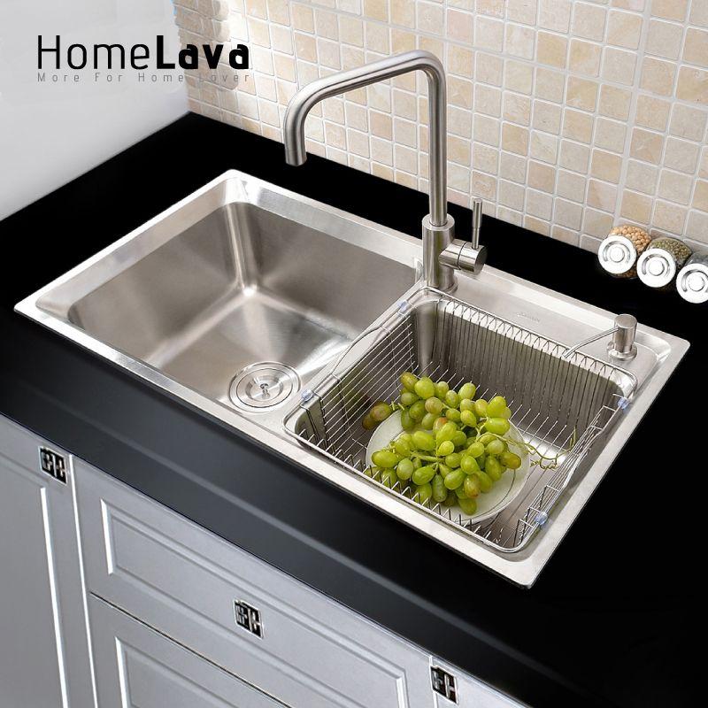 304 Stainless Steel Kitchen Sink Faucet Kitchen Accessories 81 43 23cm 83x45x2 Modern Kitchen Sinks Double Kitchen Sink Double Stainless Steel Kitchen Sink