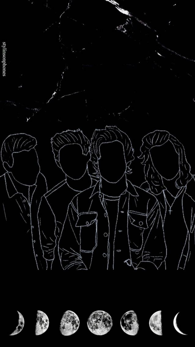 One Direction Black Lockscreen Ctto Stylinsonphones Letras