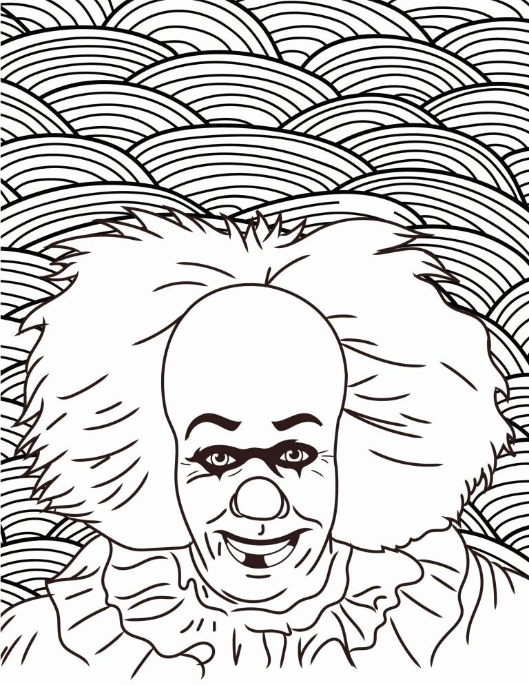 Super Hard Coloring Pages For Kids Penny Wise In 2020 Halloween Coloring Pages Halloween Coloring Coloring Pages