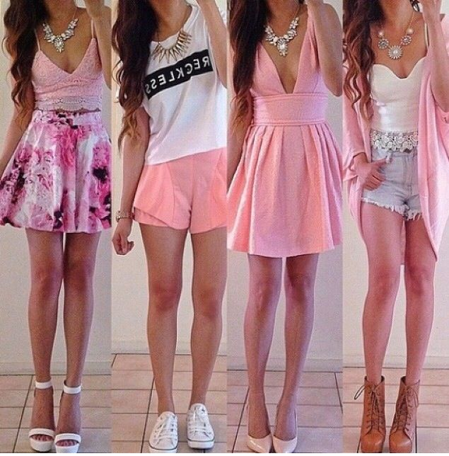 Love this girly feminine look, showing many different ways ...