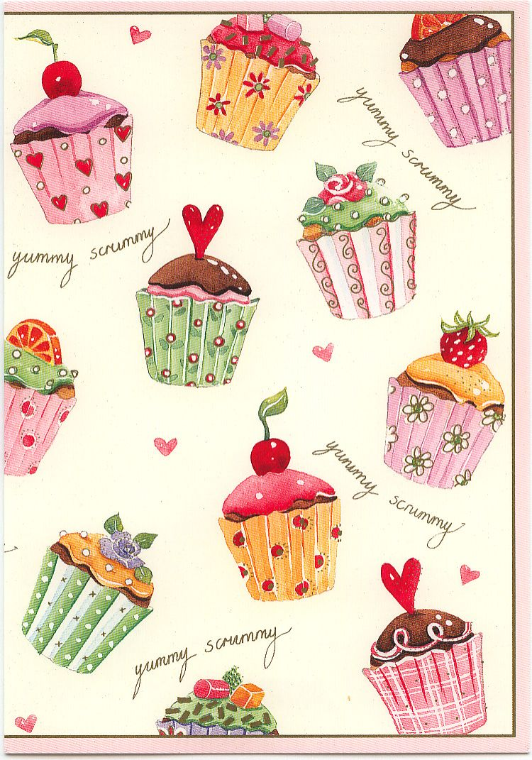 17 Best images about greeting cards 1 – Cupcake Birthday Card