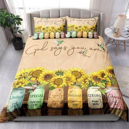 Hummingbird God Say You Are Bedding sets | Colorful | Duvet Covers | Full Sizes - Bedding Set / Full