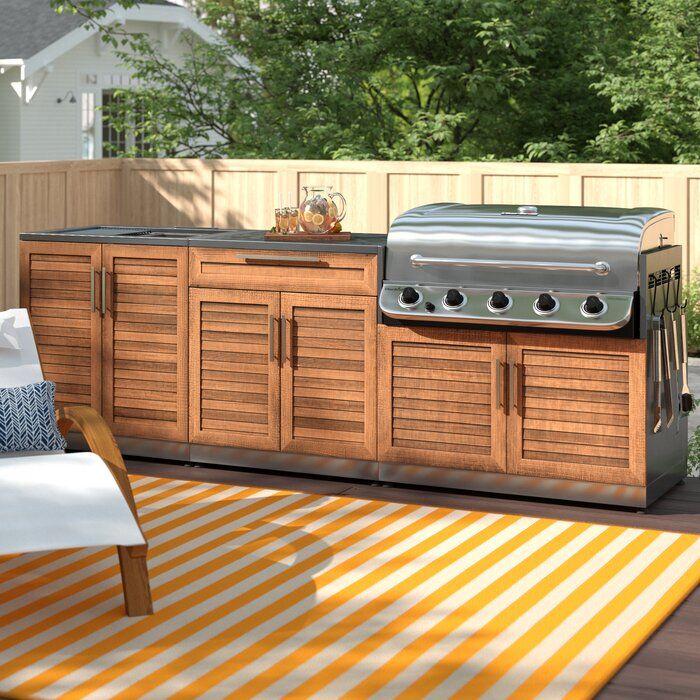 "Stainless steel 104"" 4-Piece Modular Outdoor Kitchens in ..."