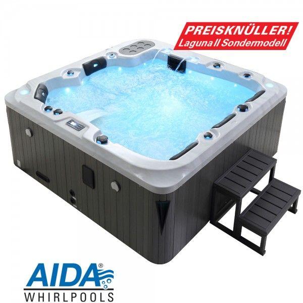 Sondermodell AIDA LAGUNA II Edition Whirlpool outdoor (5 Pers - outdoor whirlpool garten spass bilder