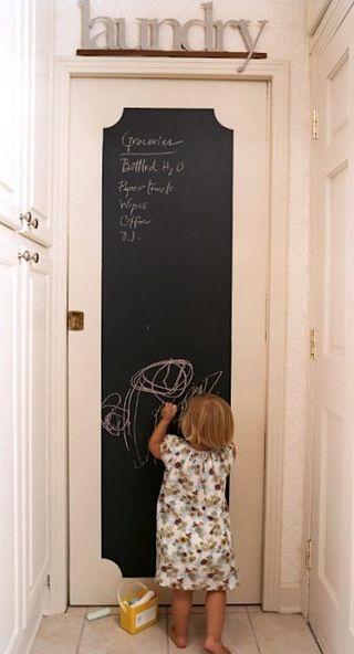 Ideas To Inspire Budding Chalkboard Artists Chalkboard Door Pocket Doors Diy Door