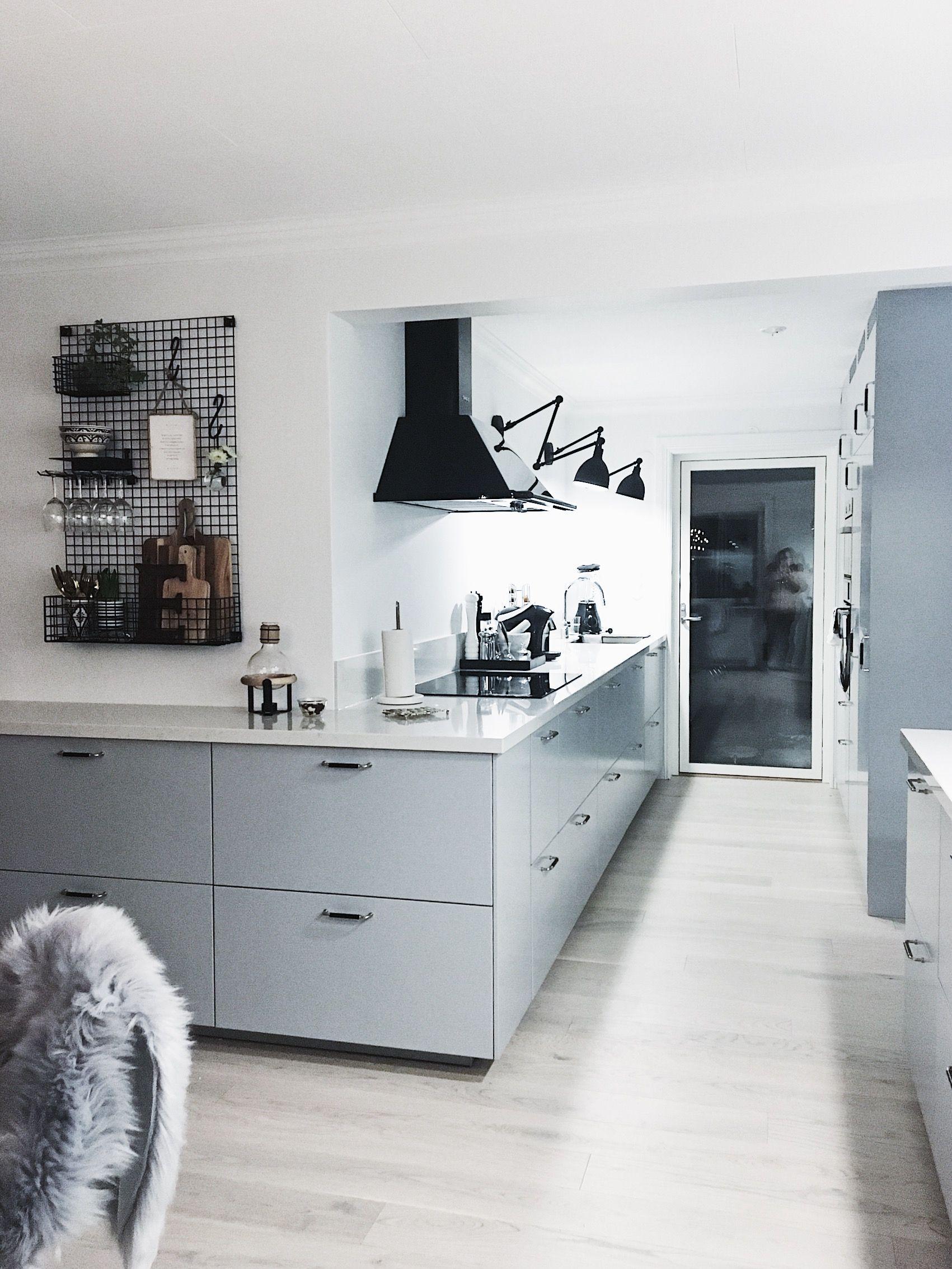 Ikea Veddinge Gra Kok Inspiration Gratt Koksinredning Koksrenovering