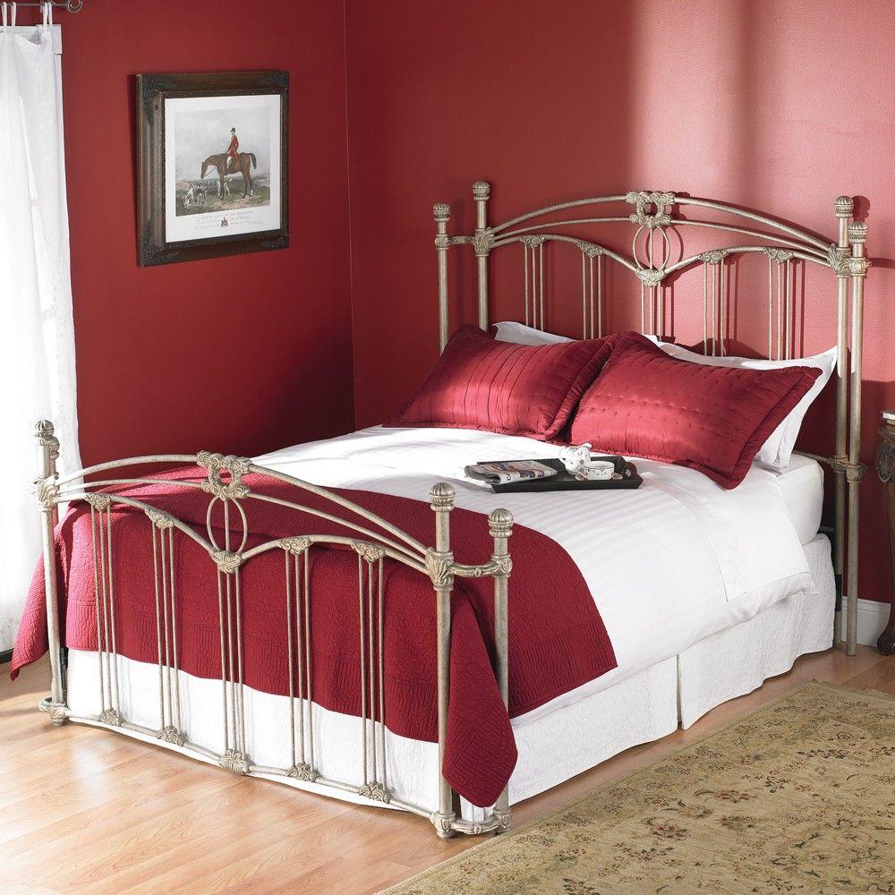 Fillmore Open Toe Return Post Iron Bed by Wesley Allen
