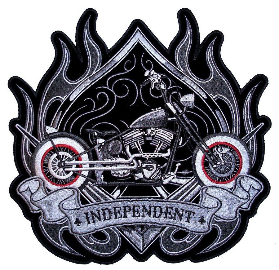 OLD SCHOOL Embroidered Jacket Vest Patch Emblem Independent Motorcycle Biker
