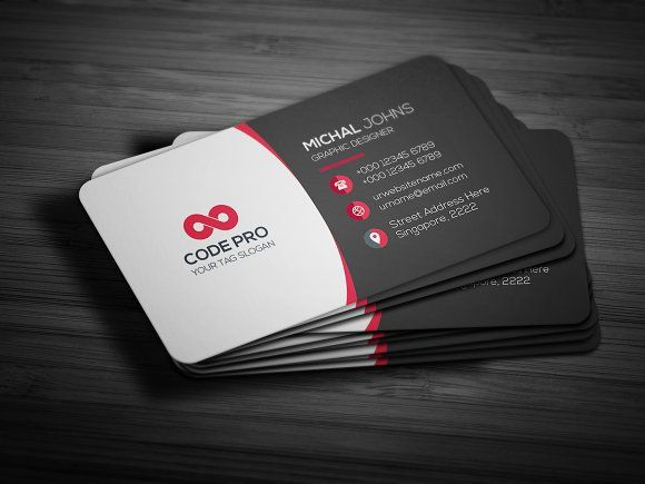 Business card by create art on creativemarket best business card business card templates this is clean business card template flex by create art reheart Image collections