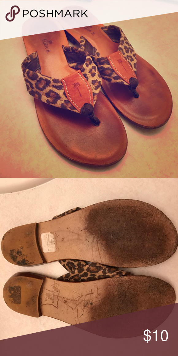 0df132515750b Eliza B. Leather Leopard Shoes Sz 9 These shoes are so comfortable!  Obviously a