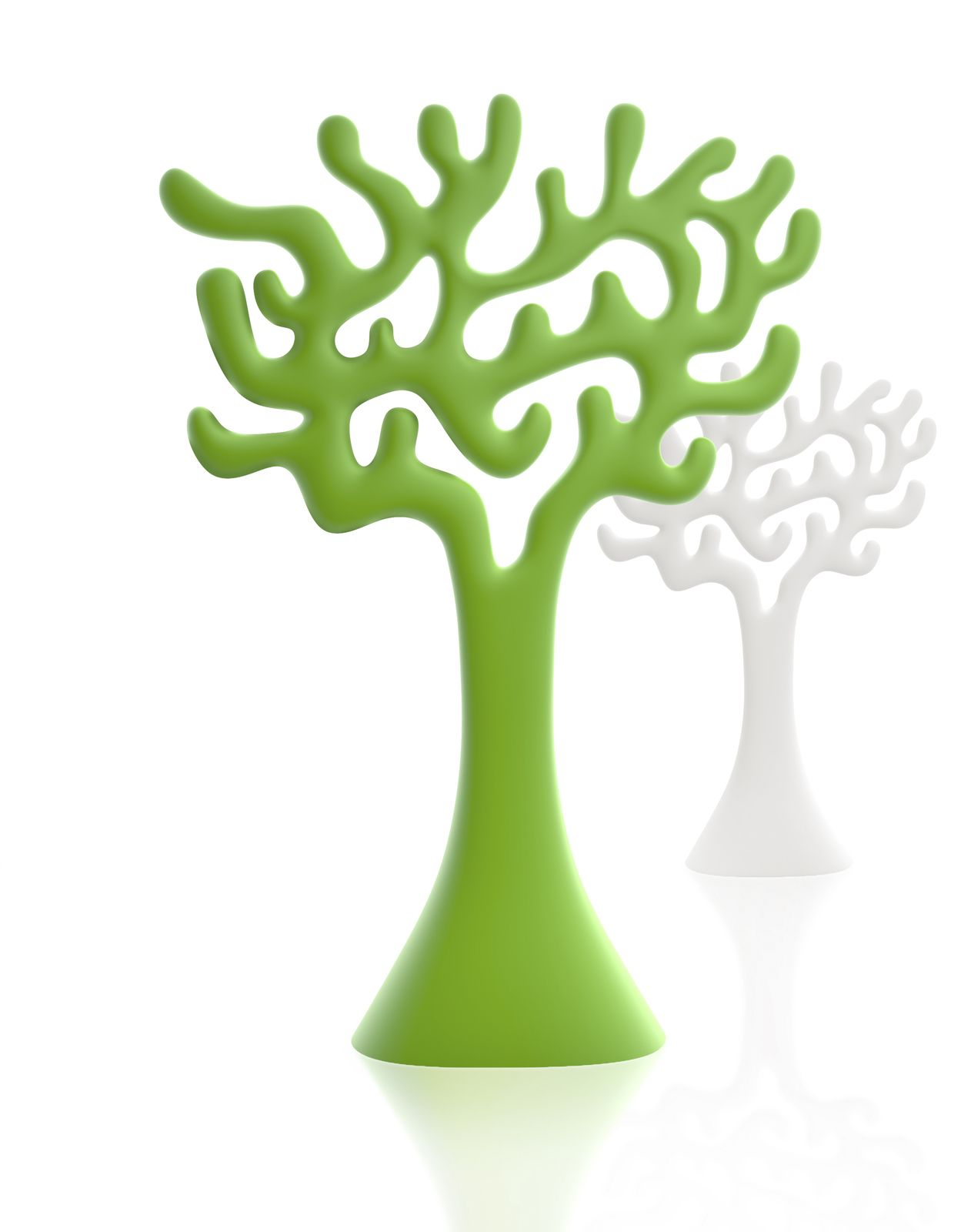 the tree can be used singly or in groups as a space divider and