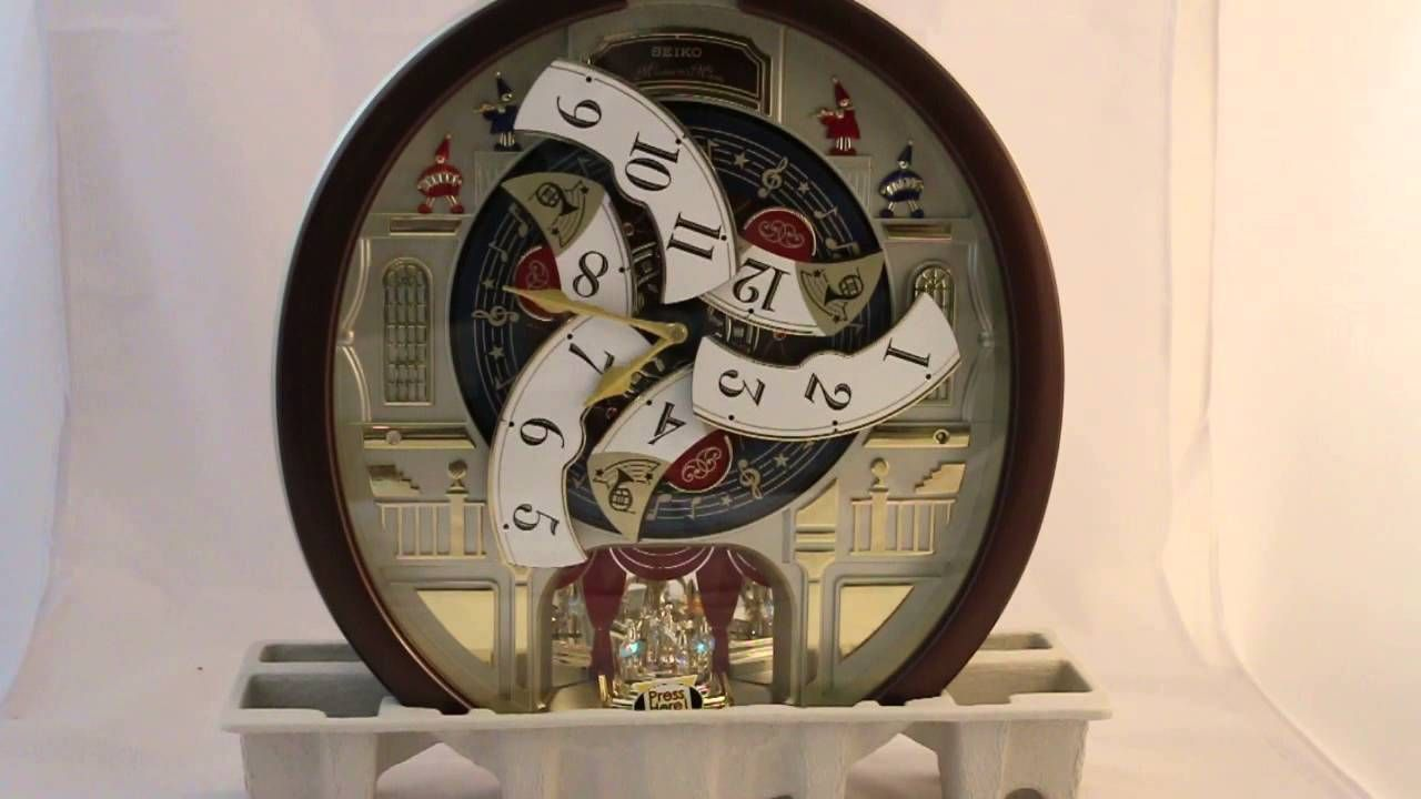 Seiko Melodies In Motion 2015 Animated Musical Wall Clock Youtube Clock Wall Clock Frames On Wall