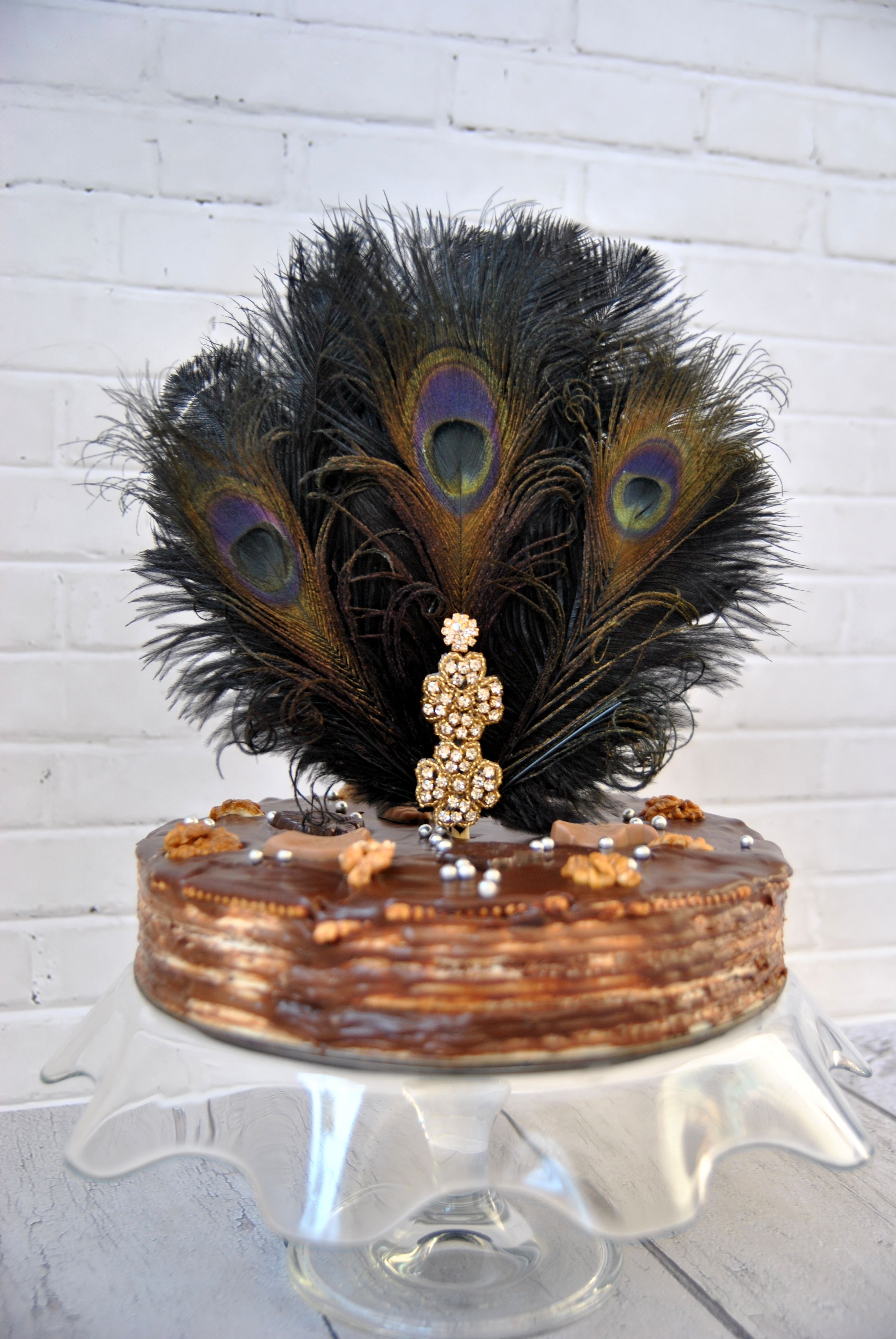 Feather Cake Topper Gatsby 1920s Customized Wedding Cake ...