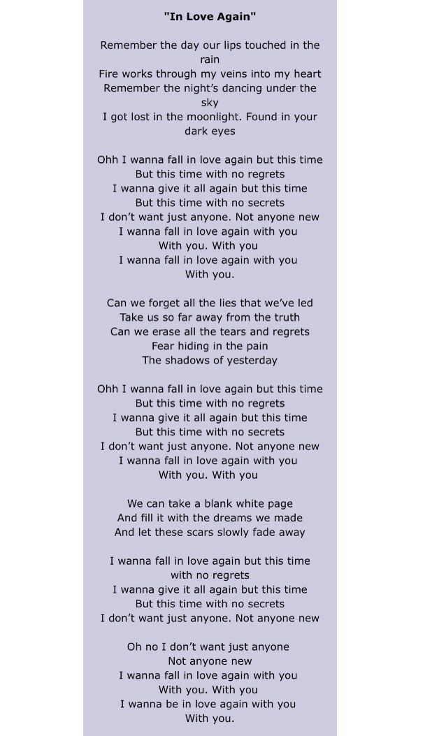 I dont want to love again song