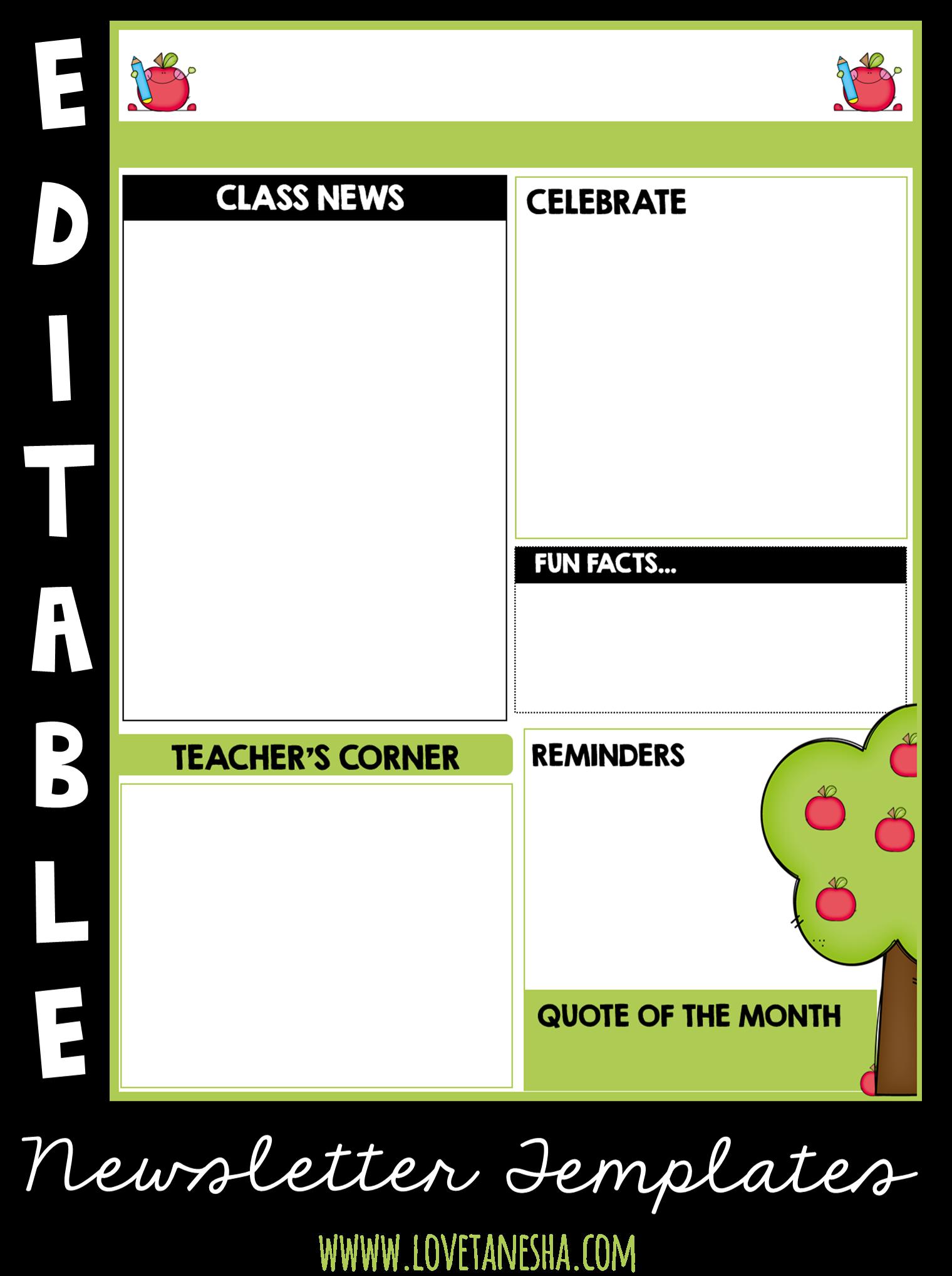 classroom communication - newsletter | newsletter templates, Modern powerpoint