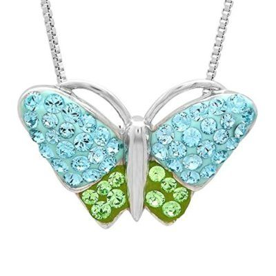 Elements Butterfly Necklace - Silver Silver (Colour) cZWDEuAgn3