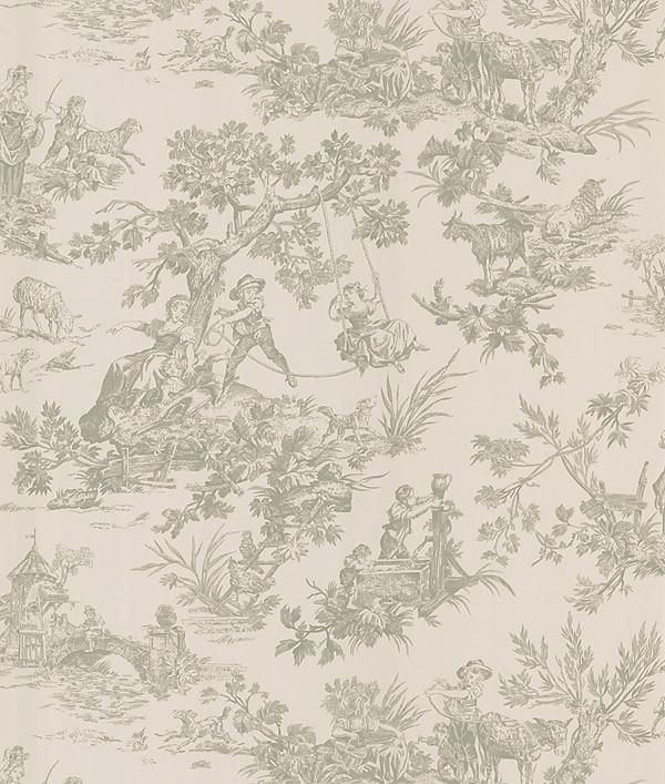 Limoges Taupe Toile Wallpaper In 2019 Toile Wallpaper