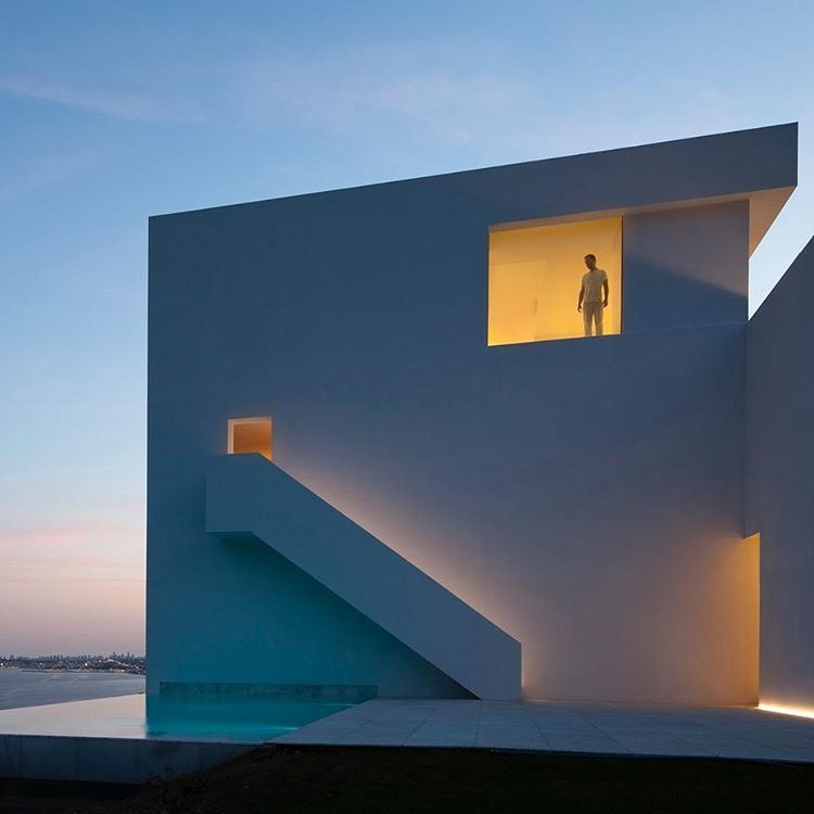 """3,621 Likes, 12 Comments - Architizer (@architizer) on Instagram: """"Fran Silvestre Arquitectos' House on Cliffside is located in Alicante, Spain, overlooking the sea/…"""""""